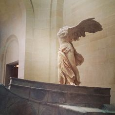 "If you can, take the Context Tour and you'll learn about the Louvre's most famous masterpieces, including the 2,200-year-old ""Winged Victory of Samothrace,"" which recently came back from a two year restoration. #travel #paris #wanderlust"