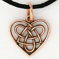 Celtic Heart Charm ♡ teaspoonheaven.com