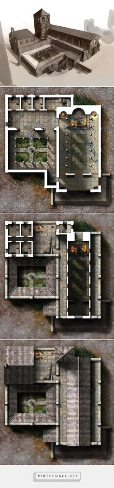 minecraft building ideas - created via - Fantasy City, Fantasy Places, Fantasy Map, Medieval Fantasy, Fantasy World, Dungeons And Dragons, Building Map, Building Structure, Building Ideas