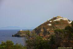 Kastro et l'ile de Sikinos dans le fond - Sifnos - Cyclades - Grece