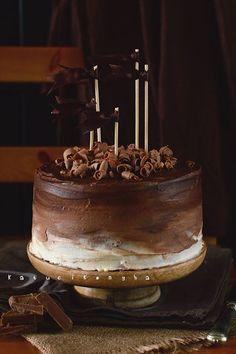 Csokitorta, csak így egyszerűen Cooking Chocolate, Love Chocolate, Chocolate Cake, Sweet Recipes, Gourmet Recipes, Cake Recipes, Cake Board, Novelty Cakes, Creative Cakes