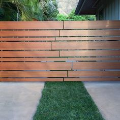 Improve the look of your residential or commercial space with an aluminum gate that looks like wood. Knotwood's gates are durable and easy to install. Fence Gate Design, Front Gate Design, House Gate Design, Gate Designs Modern, Modern Fence Design, Modern Gates, Driveway Entrance, Entrance Gates, Modern Driveway