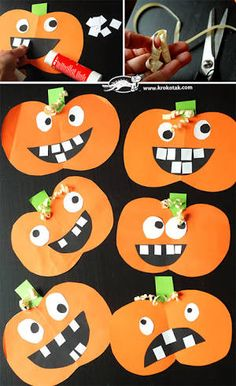 20 Simple Art Craft for Toddlers Make Halloween for yourself: browse through hundreds of Halloween crafting concepts for teens. Easy Halloween Crafts for teens - perfect for young adults, older teens and adults! Make Halloween Halloween Arts And Crafts, Theme Halloween, Halloween Designs, Easy Arts And Crafts, Simple Crafts, Halloween Pumpkins, Preschool Halloween Crafts, Halloween For Kids, Halloween Decorations For Kids