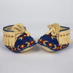 Adorable beaded baby moccasins