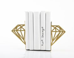 These Modern Diamond Bookends are made of power coated laser cut metal. Every nursery and child's room needs a nice set of bookends, and this geometric diamond shape is modern and stylish! Available in a variety of colors to match any nursery decor. Kids Room Design, Nursery Design, Nursery Decor, Modern Bookends, Teen Bedroom Designs, Laser Cut Metal, Monogram Wall, Book Holders, Diamond Shapes