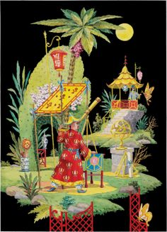 chinoiserie print - via well appointed house