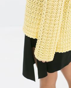DETAILED KNIT SWEATER from Zara