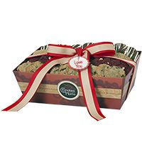 Red Grand Gift Tray - I Love You - Cookie and Brownie Options