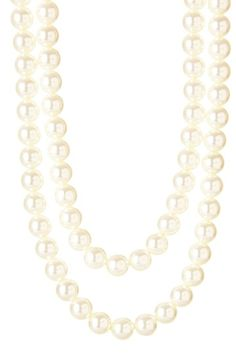 this pieces has 2 pretty sections of chain which you cannot see in the photo. $22.00.  Contemporary Chain & Pearl Stationed Necklace by Day to Night: Jewelry Event on @HauteLook