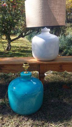 Lámparas cerámica. Artesanía. Decorhome. Handmade