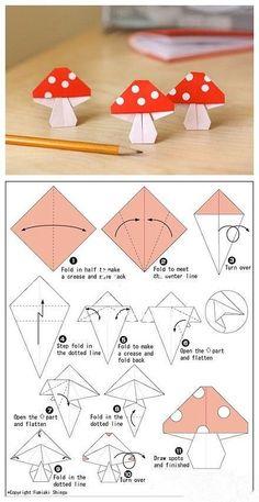 Origami DIY, Origami Crafts for Kids, Free Printable Origami Patterns, Tutorial… diyorigami Diy Origami, Design Origami, Origami And Kirigami, Paper Crafts Origami, Origami Tutorial, Diy Paper, Simple Origami, Origami Instructions, Origami Ideas