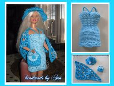 barbie setje / barbie / poppenjurkjes | Handmade-by-ann-with-love.jouwweb.nl