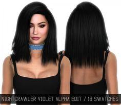 Simpliciaty: Nightcrawler`Violet hair retextured • Sims 4 Downloads