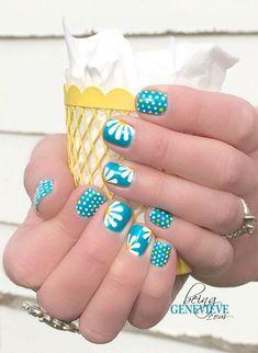 15 Spring Gel Nail Art Designs, Ideen & Aufkleber 2017 - Nageldesign