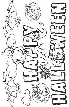 dessin halloween à colorier Halloween Mono, Feliz Halloween, Halloween Poster, Cute Halloween, Halloween Snacks, Halloween Coloring Pictures, Halloween Coloring Pages, Halloween Drawings, Halloween Pictures