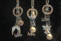 Breast Cancer Awareness - Inspirational Charm Necklace HOPE, STRENGTH, SURVIVOR