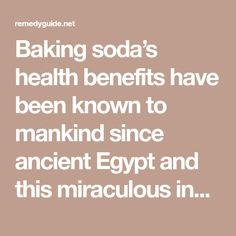 Baking soda's health benefits have been known to mankind since ancient Egypt and this miraculous ingredient is still used even today. There are more than 300 ways in which you can use baking soda and in this article we'll reveal the 15 best ones we discovered. We all have baking soda in our kitchen but …