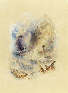Joseph Mallord William Turner 'The Wreck', c.1835 - Watercolour on paper -  Dimensions Support: 211 x 152 mm -  Collection Private collection -  © Photo courtesy of Sotheby's
