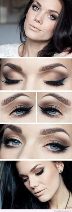 Linda Hallberg nude makeup with black