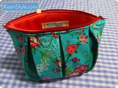 For more info and images of these pouches please click the picture ♥ #KooriStyle #Zippered #Pleated #Floral #Pouch #Handmade