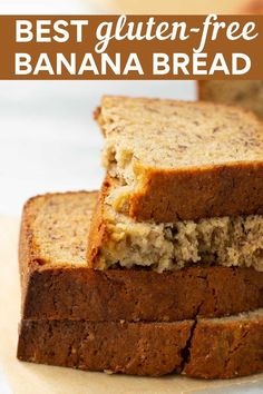 The Best Gluten-Free Banana Bread! EASY to make with perfect texture and delicious flavor! Sure to become your go-to recipe! Dessert Sans Gluten, Bon Dessert, Gluten Free Sweets, Appetizer Dessert, Is Sugar Gluten Free, Gluten Free Diet, Easy Gluten Free Recipes, Lactose Free, Simple Recipes