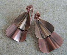 fold formed earrings