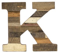 Cypress Barnwood Letter K - Paul Michael Company  Recycled Wood Letter S These Paul Michael Company Exclusive pieces are designed and made by hand in our Dermott, AR woodshop
