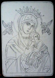 Religious Tattoos, Religious Icons, Religious Art, Christian Drawings, Christian Art, Byzantine Icons, Byzantine Art, Writing Icon, Art Sketches