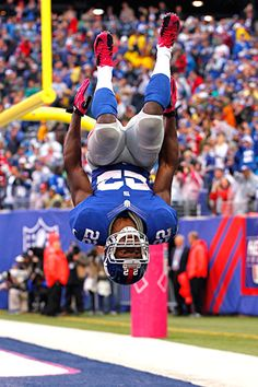 David Wilson's back flip after his first NFL TD vs. the Browns