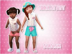 ⏩ Toddler Cat Outfit ⏪ ⏩ I love this little outfit so I decided to convert it for toddlers from the get together pack BUT it's basegame compatible. ⏩ There are 9 colours included and all textures and...
