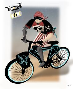 My special biking space pirate :)- Again