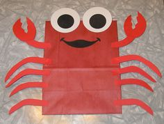 Crab Treat Sacks - Ocean Sea Tropical Theme Birthday Party Favor Bags by jettabees on Etsy