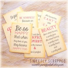 QUOTE Journal Cards, Pocket Letters, Journaling, Scrapbooking, Girl, Her, Believe Scrapbooking, Scrapbook Paper Crafts, Scrapbook Cards, Pocket Pal, Pocket Cards, Journal Quotes, Journal Cards, Believe, Project Life Cards