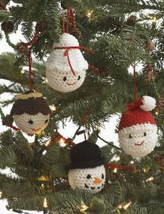 "Amigurumi Ornaments - too adorable! Make one or make them all - will look fabulous on the tree! Free pattern - ""easy"" - CROCHET"