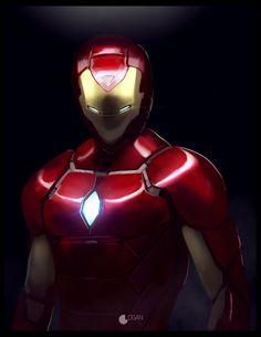 Ilustración basada en Iron Man