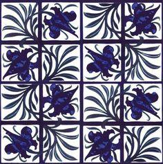 Tulip and Trellis Tile, designed by William Morris, 1870 - William Morris & Co.