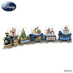 Miniature Snowglobe Christmas Train With Disney Characters Christmas Train, Disney Christmas, Merry Christmas, Christmas Ideas, Christmas Decorations, Disney Snowglobes, Disney Movies, Disney Characters, Disney Stuff