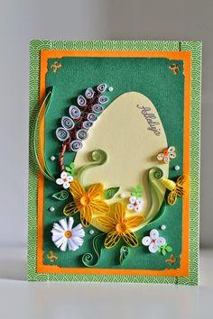 Kartka na Wielkanoc #manufakturasiostry #DIY #kartki #quilling #easter Paper Quilling Cards, Paper Quilling Patterns, Quilling Craft, Quilling Techniques, Krishna Art, Easter Crafts, Happy Easter, Birthdays, Scrapbooking