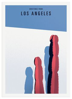 Thomas Danthony - Greetings from Los Angeles — Handsome Frank Illustration Agency Cool Posters, Travel Posters, Graphic Design Illustration, Digital Illustration, Graphic Art, Thomas Danthony, Road Trip, Small Canvas Art, Foto Art