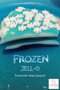 Frozen Jell-O Preschool Snack