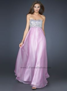 #LaFemme 17058 lilac prom dress, strapless prom dress #InternationalProm #Prom #Promdress #Prom360
