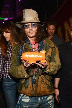 Celeb Diary: Johnny Depp @ 2013 Nickelodeon Kids Choice Awards