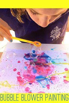 Kids Art Ideas: Spiral Art Garden Collage | Childhood101