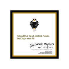 Bald Eagle MB-1 brick / peyote stitch by NaturalWondersByCari
