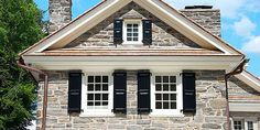 tudor with black exterior shutters - Google Search