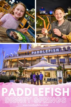 Are you looking for a Disney Springs restaurant that will please both adults and children?? Look no further because Paddlefish has it all. In fact, they have the best kids' menu at Disney Springs with things like the usual chicken fingers and burgers plus more grown-up options like filet and crab!#disneydining #paddlefish #disneysprings #disneyeats #familytravel Disney Dining Tips, Disney Tips, Disney Food, Best Disney World Restaurants, Walt Disney World Vacations, Disney Travel, Disney Parks, Chicken Fingers, Kids Menu