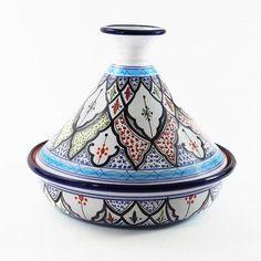 """Le Souk Ceramique Tibarine Design 12"""" 2.5-qt. Round Tagine"""