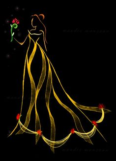 Beauty and the Beast Disney princess belle cool line fan art