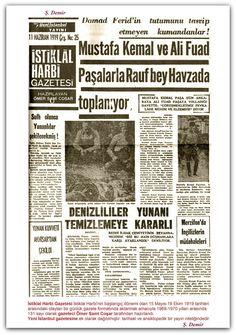 11.06.1919 İstiklal Harbi Gazetesi İstiklal Harbinin başlangıç dönemi olan 15 Mayıs-18 Ekim 1919 tarihleri arasındaki olayları bir günlük gazete formatında aktarmak amacıyla 1969-1970 yılları arasında 131 sayı olarak gazeteci Ömer Sami Coşar tarafından hazırlandı. Yeni İstanbul gazetesine ek olarak dağıtılmıştır. tarihsel ve ansiklopedik bir yayın niteliğindedir.