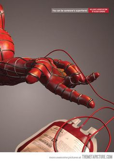 "advertising | ""You can be a hero too"" Hellenic Association of Blood Donors   #spiderman"